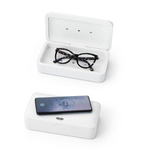 BACTOUT. Boîte de stérilisateur UV chargeur sans fil rapide, Objet personnalisable, comité social économique