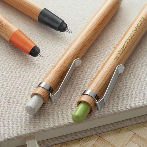 BENJAMIN. Stylo à bille en bambou - ISOCOM - OBJETS ET TEXTILES PERSONNALISES - NANTES