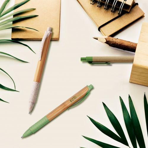 KUMA. Stylo à bille en bambou - ISOCOM - OBJETS ET TEXTILES PERSONNALISES - NANTES