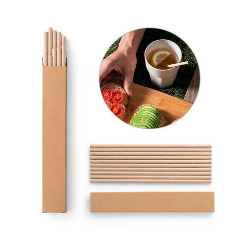 LAMONE. Set of 10 kraft paper straws