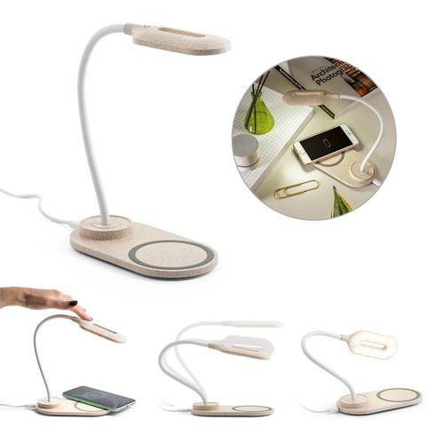 OZZEL. Lampe de bureau avec chargeur sans fil (Fast, 10W), Objet personnalisable, comité social économique
