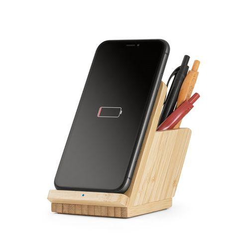 LEAVITT. Chargeur sans fil en bambou