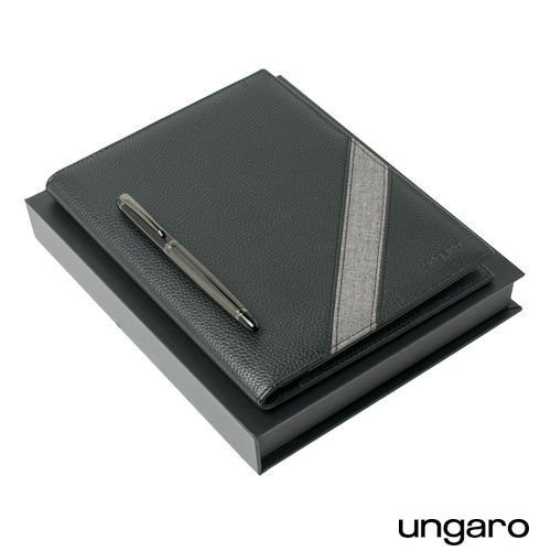 Parure Alesso Black (stylo roller & écritoire A5)
