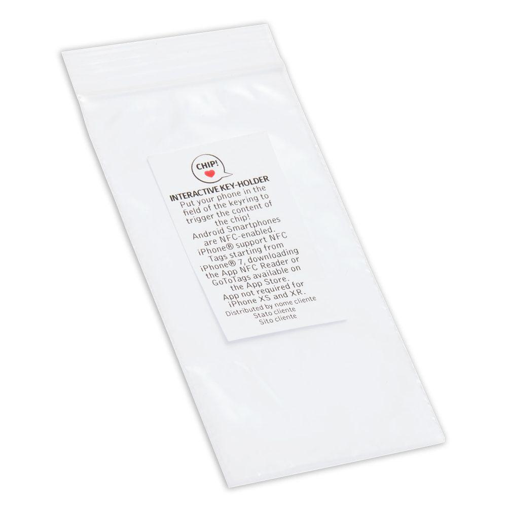 Sachet plastique avec étiquette
