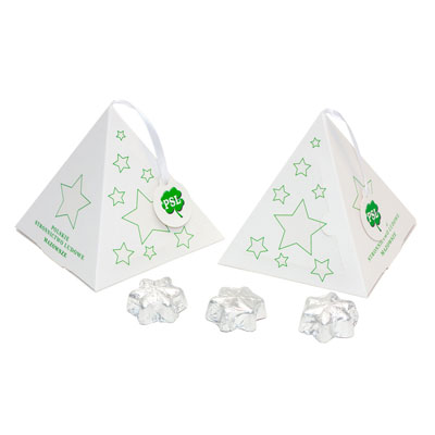 Boîte cadeau de Noël – 10 chocolates étoile