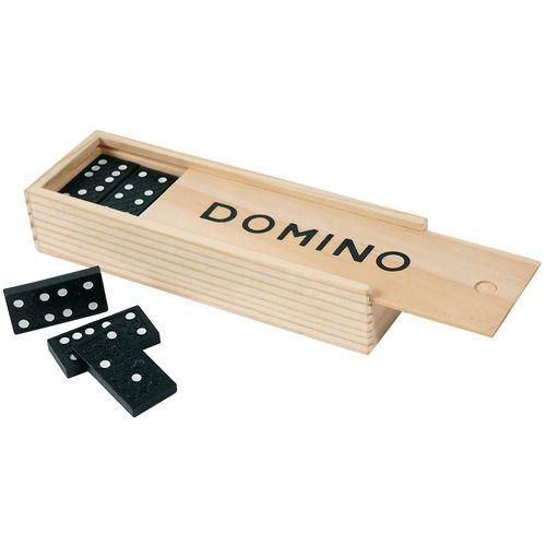 Jeu de Dominos, 28 pièces en bois rangés dans boite en bois
