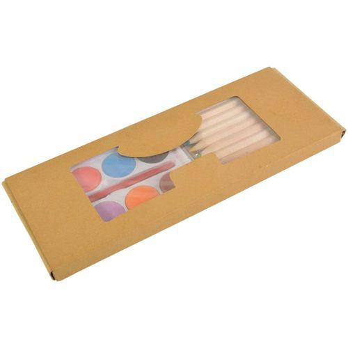 Coffret crayons (10 pcs) + aquarelles (8 pcs)