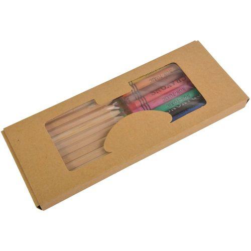 Set crayons (10 pcs) + crayons aquarelles (9 pcs)