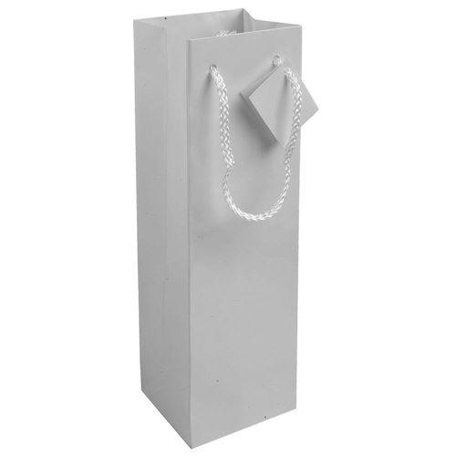 Shopper avec soufflet porte-bouteille en carte laminée 157 g/m2 avec renforcement au fond, anses en corde