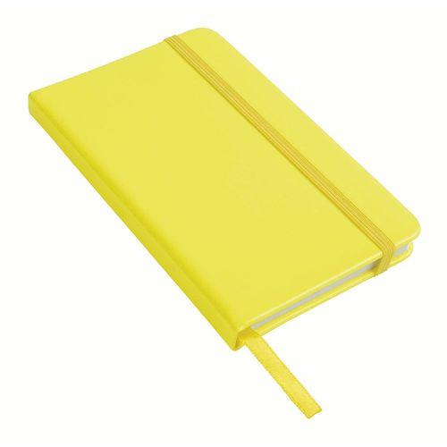 Cahier avec fermeture élastique couleur fluo