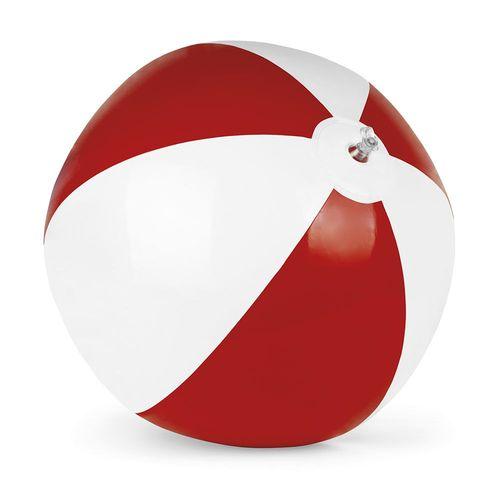 Balle de plage gonfiable en PVC bicolore, diamère 28 cm