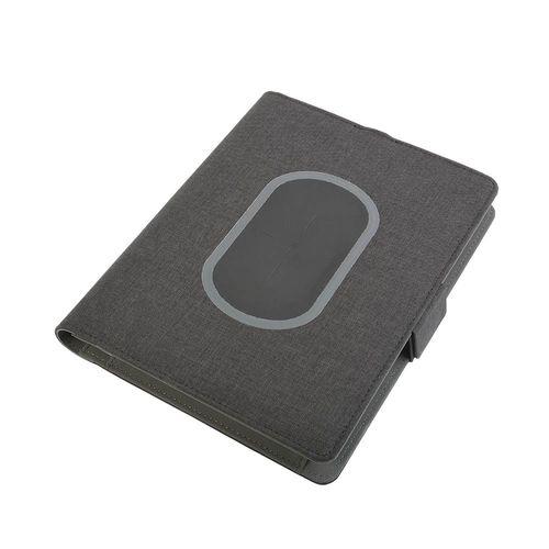 Organisateur Tech avec chargeur sans fil et cahier (A5)
