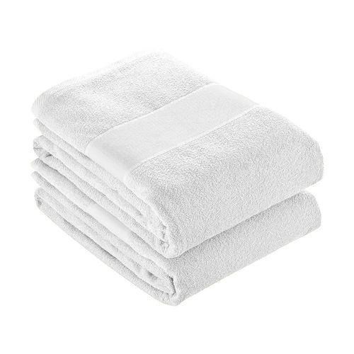 Serviette éponge en coton avec bandeau en polyester Imprimable à sublimation