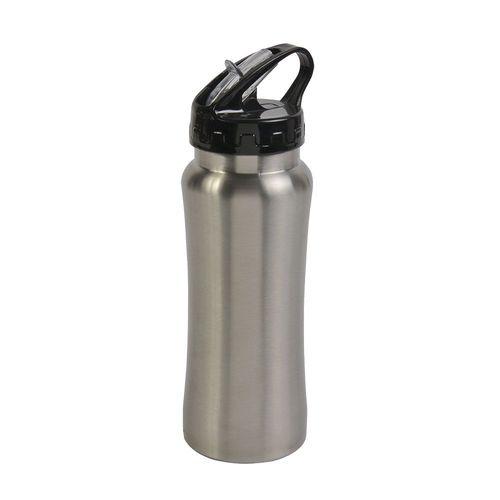Bouteille en métal avec paille rectractable 600 ml