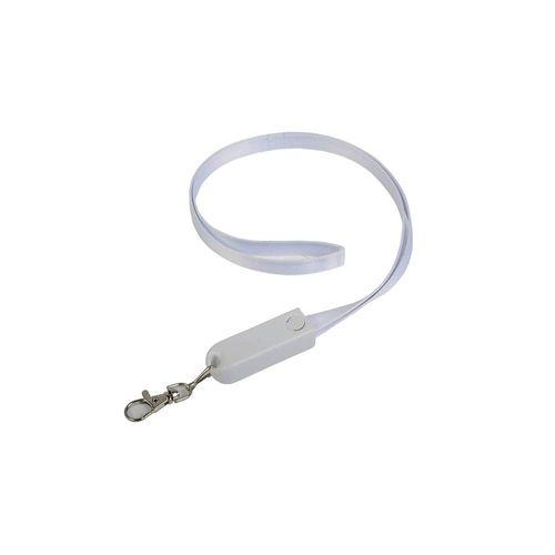 Lanière avec mousqueton avec fonction de cable de recharge avec prise Micro-USB/Lightning/USB type C/USB