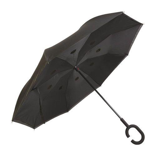 Parapluie réversible avec manche rond en  gommè