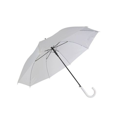 Automatic umbrella with metal shaft and plastic crook handle