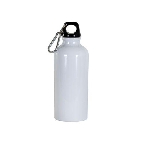 Gourde en aluminium avec mousqueton, 400 ml