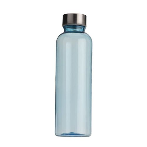 Gourde en plastique transparent avec bouchon en acier, 500 ml