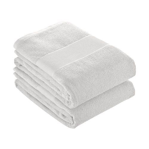 Serviette en éponge de coton 100% (350 g/m2) avec bande OPAQUE imprimable (80x150 cm)