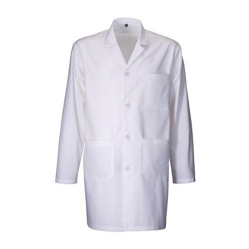 Blouse de travail en coton et polyester 145 g/m2, fermeture centrale avec boutons, 3 poches