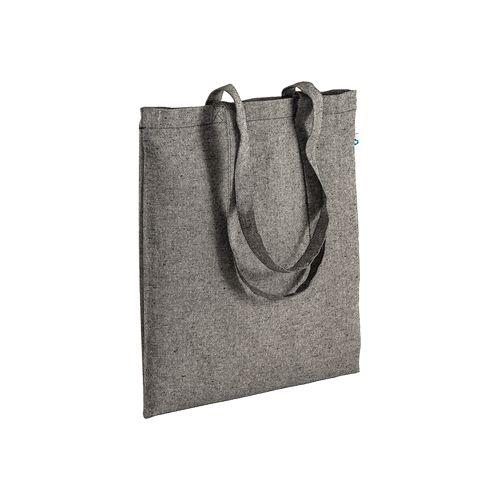 Shopper en coton recyclé 190 g/m2, anses longues, 38X43 cm