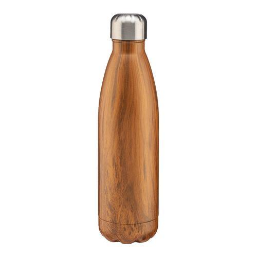Thermos en acier inoxydable de 500 ml avec double paroi isolante avec impression effet bois