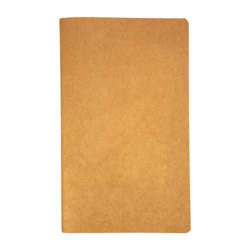 Carnet avec couverture en papier recyclé, feuilles à lignes, coloris ivoire, 50 p