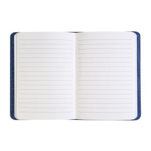 Carnet avec couverture en R-Pet, avec élastique, feuilles à lignes, coloris blanc, 80 p