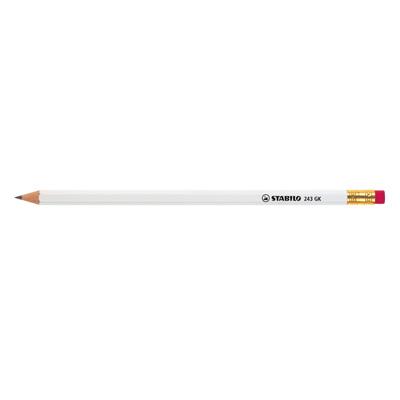STABILO pencil, hexagonal, laquered, with eraser