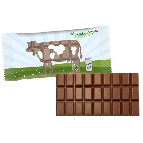 Tablette de chocolat 100g en flowpack