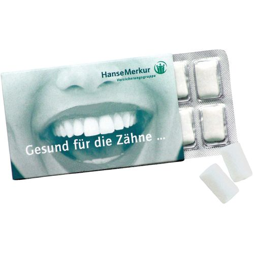Chewing-Gums en blister de 12 en étui carton