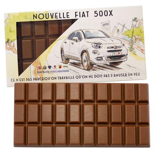 Tablette de chocolat 100 g en étui carton
