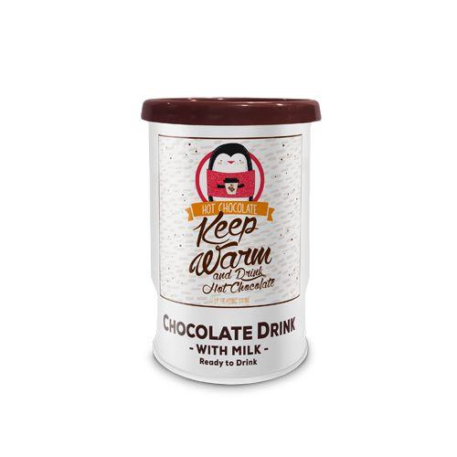 205ml Chocolat. Autochauffant avec étiquette adhésive