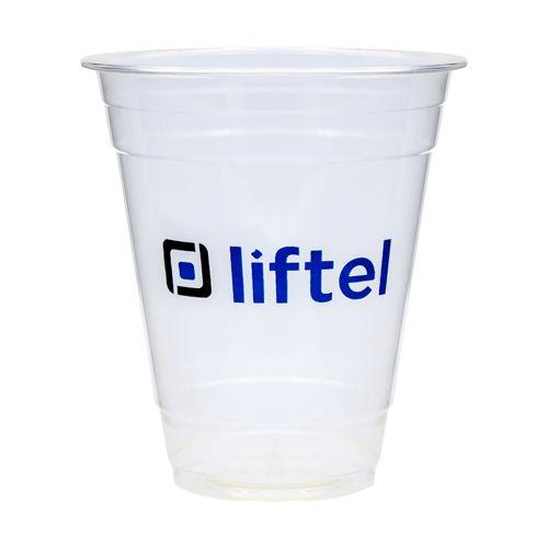 12oz-300ml Gobelet usage unique PLA transparent. Biodegradable. 1-2 couleurs d'impression