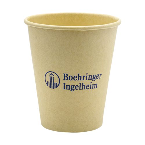 7oz/180ml Gobelet carton marron Espresso avec PLA biodégradable  - Impression 1 ou 2 couleurs. 7x8 cm