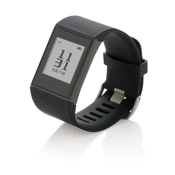 Bracelet connecté avec écran E-ink Multisport, Objet personnalisable, comité social économique