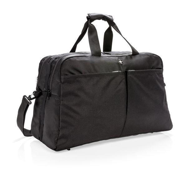 Sac de sport avec ouverture type valise Swiss Peak anti RFID, Objet personnalisable, comité social économique