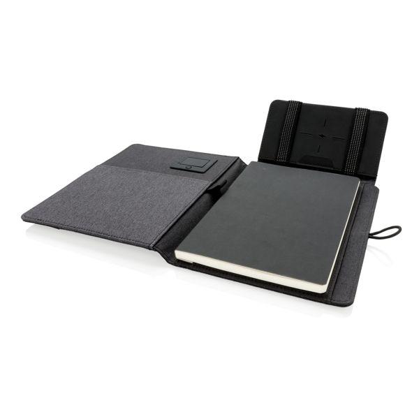 Kyoto Notizbuch mit 5W Wireless-Charging Funktion Walter Präsente personalisierte Werbeartikel