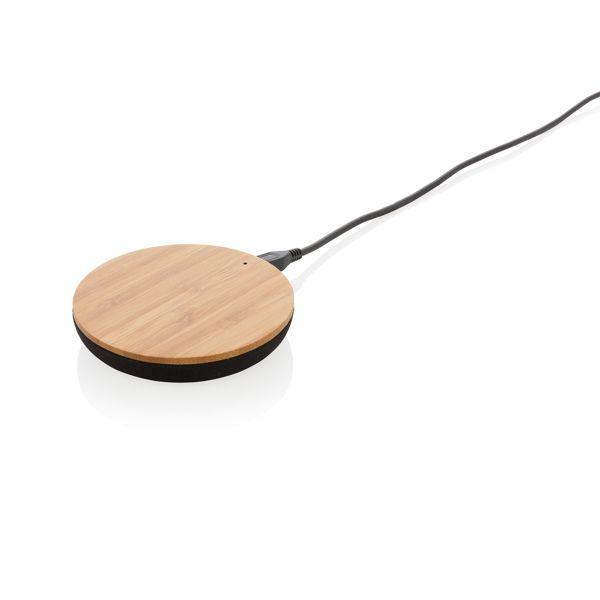 Bamboo X 5W Wireless Charger Walter Präsente personalisierte Werbeartikel