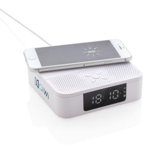 Enceinte avec chargeur à induction 5W et réveil
