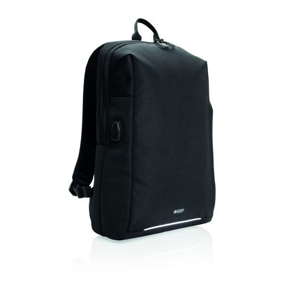 Swiss Peak RFID and USB laptop backpack PVC free