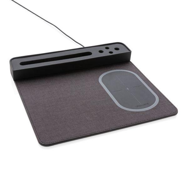 Tapis de souris Air avec chargeur à induction 5W, Objet personnalisable, comité social économique