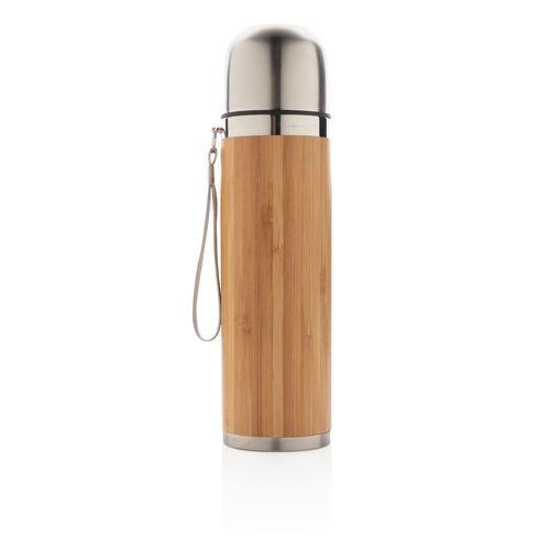 Bouteille isotherme en bambou  personnalisé montpellier Paris Ile de France