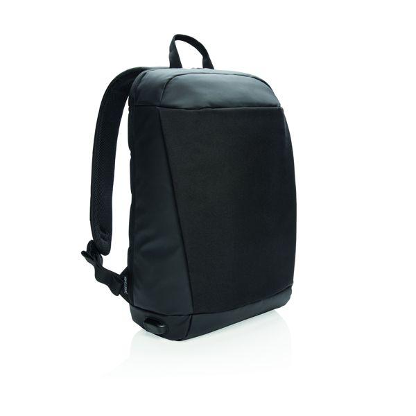 Madrid anti-theft RFID USB laptop backpack PVC free
