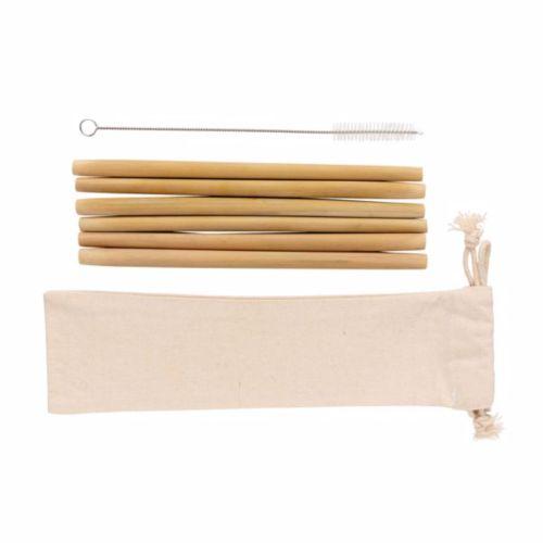 Set de pailles en fibre de bambou (x 6 pcs) WIZ PUB