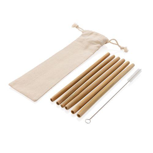 Set de pailles en fibre de bambou (x 6 pcs)