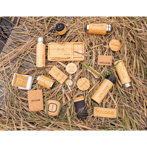 Chargeur à induction 5W en bambou  personnalisé montpellier Paris Ile de France