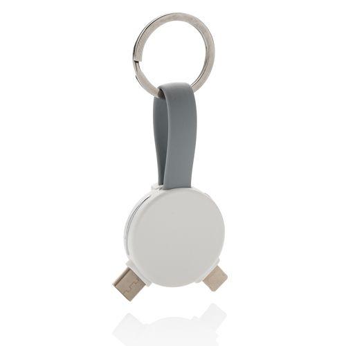 Porte-clés rond câble 3 en 1