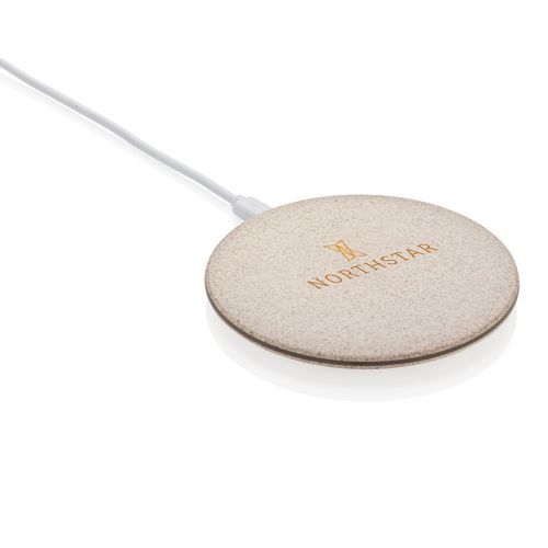Chargeur à induction 5W en fibre de paille  personnalisé montpellier Paris Ile de France